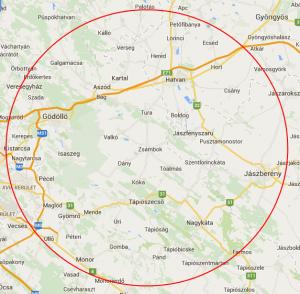 Porlasztó kihúzás kiszállási térképe, ahol még ingyenesen házhoz megyünk.